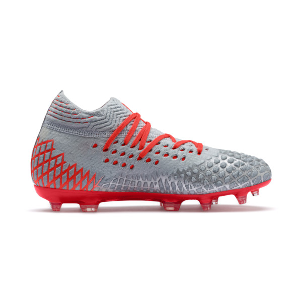 FUTURE 4.1 NETFIT FG/AG Soccer Cleats JR, Blue-Nrgy Red-High Risk Red, large