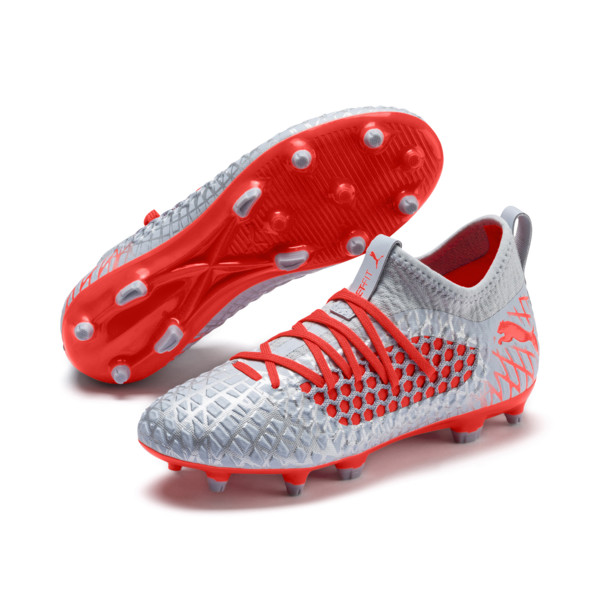 FUTURE 4.3 NETFIT FG/AG Soccer Cleats JR, Glacial Blue-Nrgy Red, large