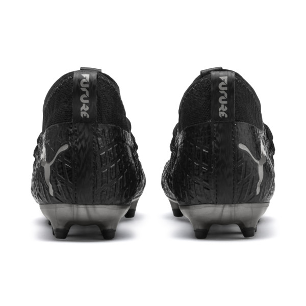 FUTURE 4.3 NETFIT Youth FG/AG Football Boots, Black-Black-Puma Aged Silver, large