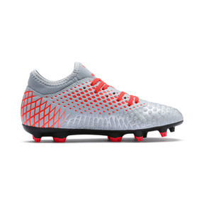Thumbnail 5 of FUTURE 4.4 FG/AG Soccer Cleats JR, Glacial Blue-Nrgy Red, medium