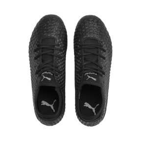 Thumbnail 6 of FUTURE 4.4 Youth Football Boots, Black-Black-Puma Aged Silver, medium