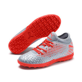 Thumbnail 2 of FUTURE 4.4 TT Soccer Shoes JR, Glacial Blue-Nrgy Red, medium