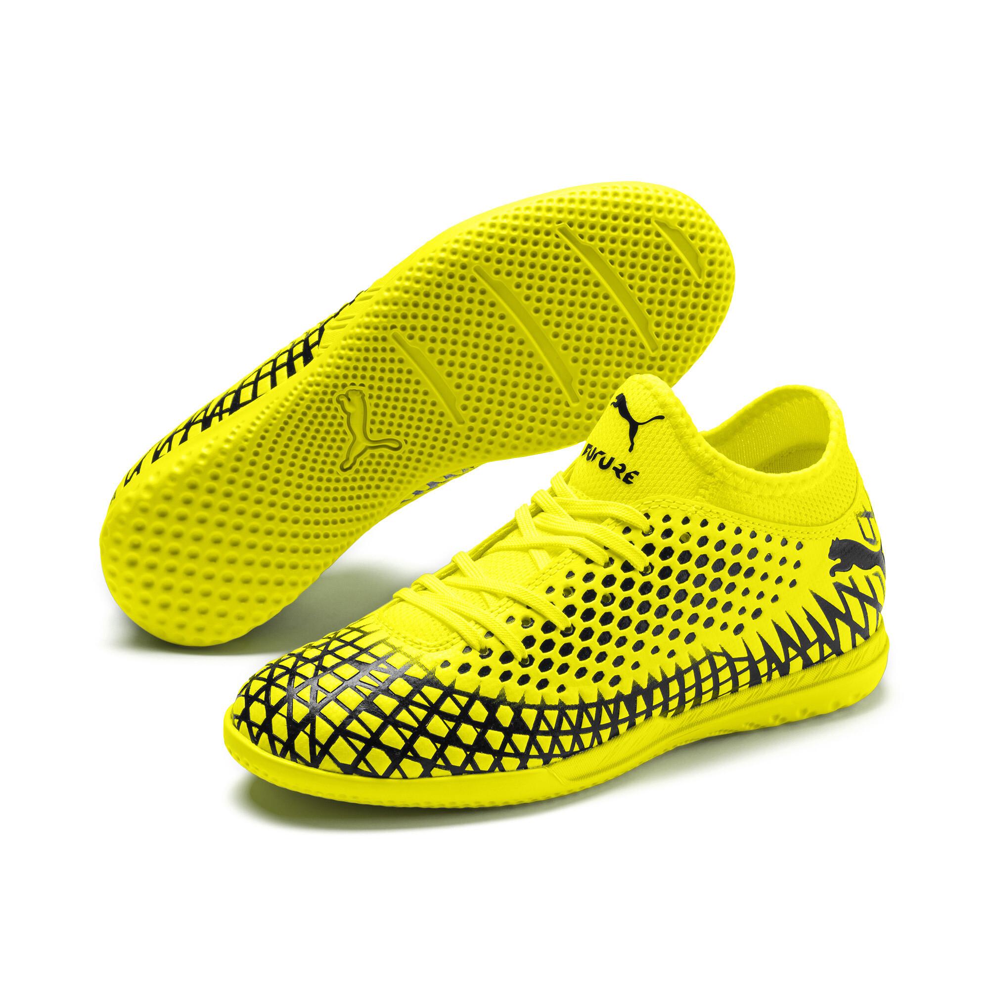 プーマ キッズ フューチャー 4.4 サッカー インドアトレーニング JR 18-24.5CM ユニセックス Yellow Alert-Puma Black  PUMA.com