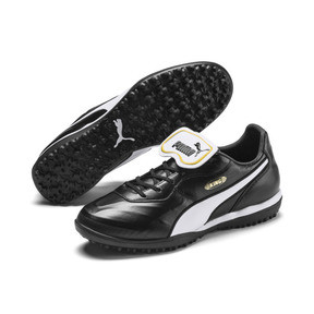 Thumbnail 3 of King Top TT Soccer Shoes, Puma Black-Puma White, medium