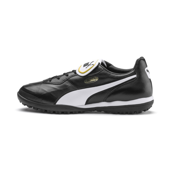 King Top TT Soccer Shoes, Puma Black-Puma White, large