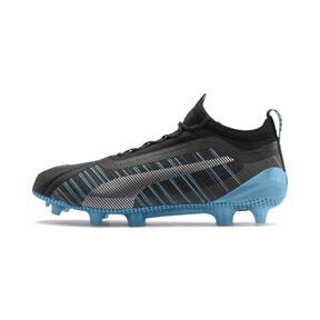 Thumbnail 1 of PUMA ONE 5.1 City FG/AG Men's Soccer Cleats, Black-Sky Blue-Silver, medium