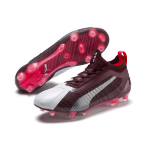 Thumbnail 3 of PUMA ONE 5.1 Women's Football Boots, White-Vineyard Wine-Silver, medium