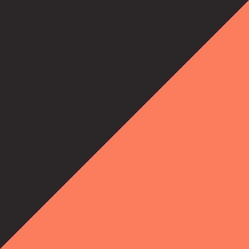 Shocking Orange-Black-White