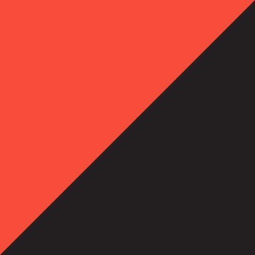 Black-White-Shocking Orange
