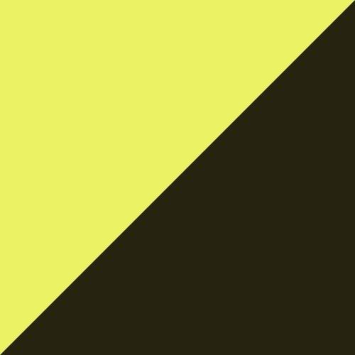 Yellow Alert- Black- White