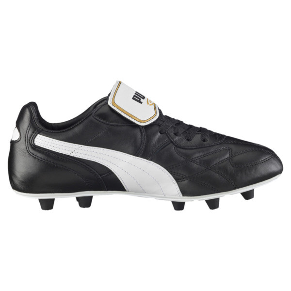 King Top di FG Men's Soccer Cleats, black-white-team gold, large