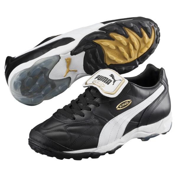 King Allround TT Men's Soccer Shoes, black-white-team gold, large