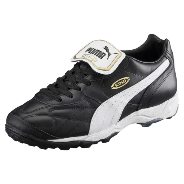 Soccer Shoe King Allround TT, black-white-team gold, large