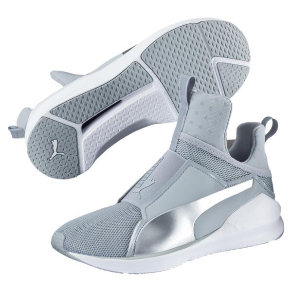 PUMA Fierce Core Training Shoes, Quarry-Puma White-P Silver, large