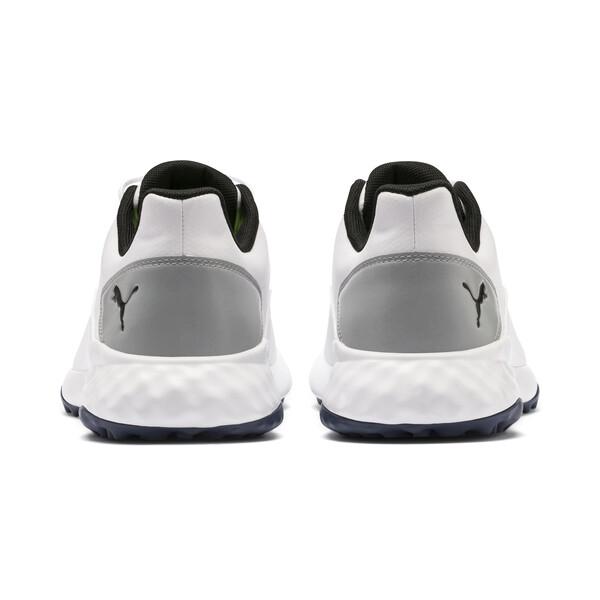 GRIP FUSION Men's Golf Shoes, White-Black-TRUE BLUE, large