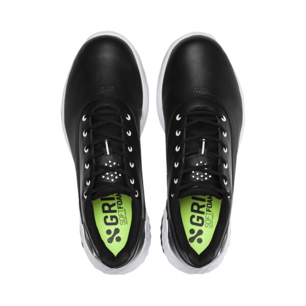 GRIP FUSION Men's Golf Shoes, Black-White, large