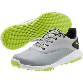 Thumbnail 2 of GRIP FUSION Men's Golf Shoes, Quarry-Acid Lime-Black, medium