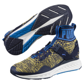 Thumbnail 2 of IGNITE evoKNIT Men's Training Shoes, Peacoat-Blue-YELLOW, medium