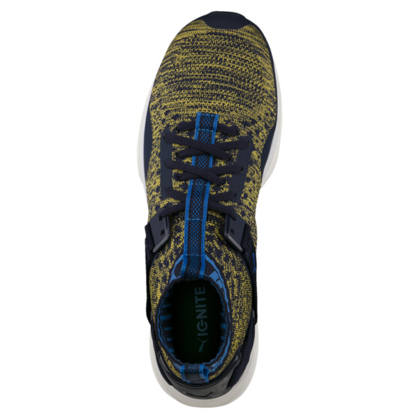 IGNITE evoKNIT Men's Training Shoes, Peacoat-Blue-YELLOW, large