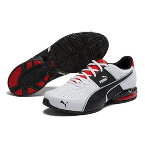 Thumbnail 2 of CELL Surin 2 FM Men's Running Shoes, White-Black-flame scarlet, medium