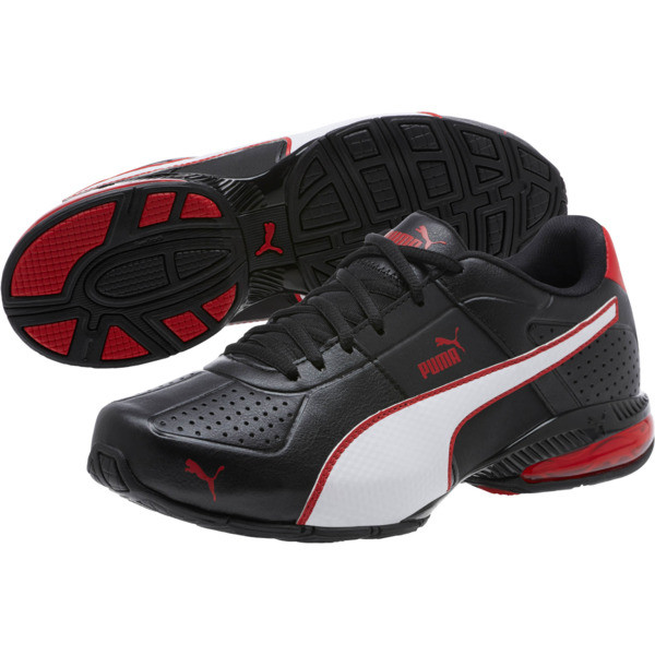 CELL Surin 2 FM Men's Running Shoes, Black-White-Ribbon Red, large