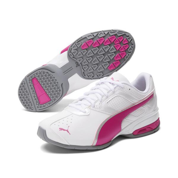 Tazon 6 FM Women's Sneakers, White-fuchsia purple-silver, large