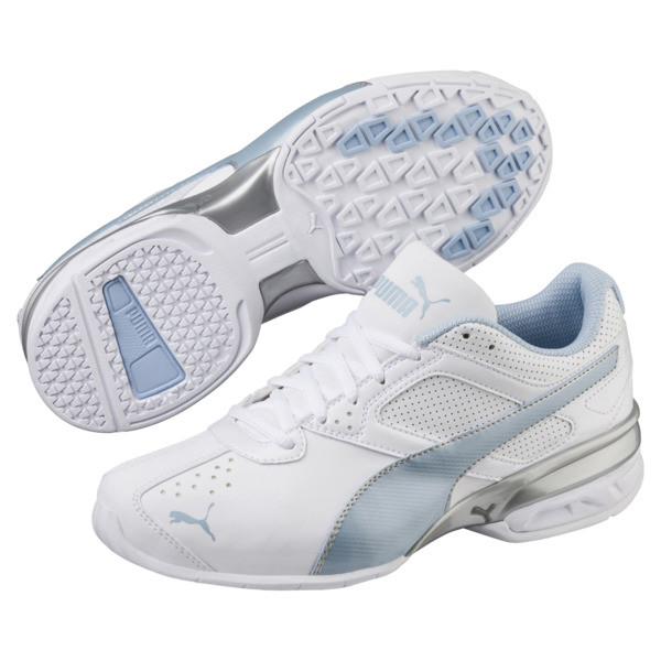 Tazon 6 FM Women's Sneakers, White-CERULEAN-Silver, large