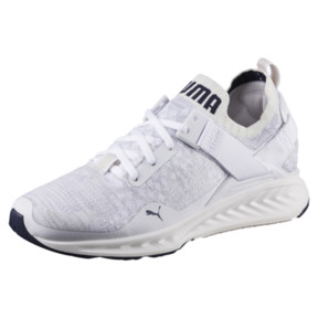 Thumbnail 1 of IGNITE evoKNIT Lo Women's Training Shoes, White-VaporousGray-Peacoat, medium