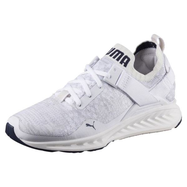 IGNITE evoKNIT Lo Women's Training Shoes, White-VaporousGray-Peacoat, large