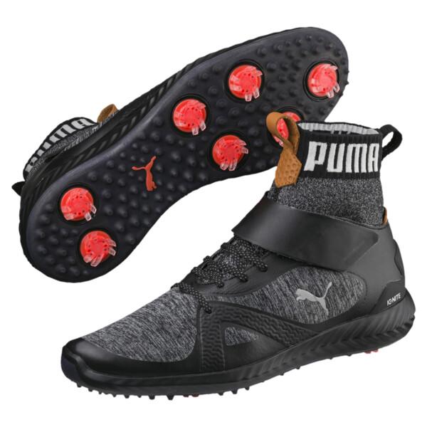 ゴルフ イグナイト パワーアダプト ハイトップ スパイクシューズ, Puma Black-Puma Silver, large-JPN