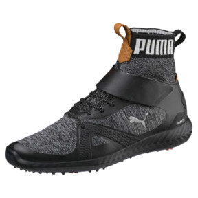Thumbnail 1 of ゴルフ イグナイト パワーアダプト ハイトップ スパイクシューズ, Puma Black-Puma Silver, medium-JPN