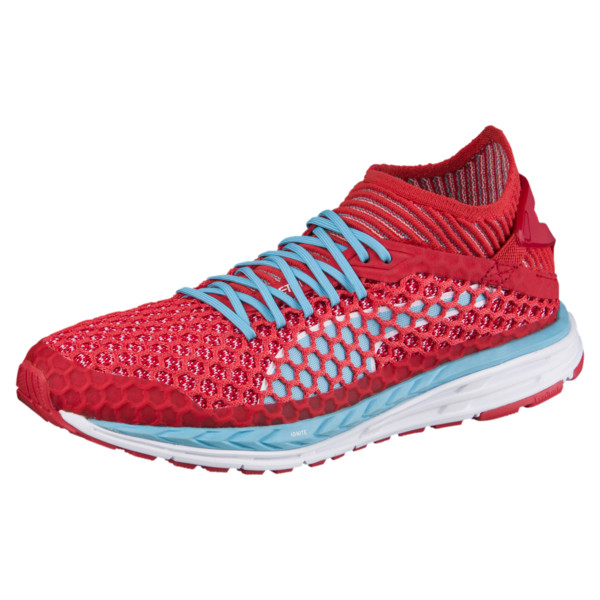 SPEED IGNITE NETFIT Women's Running Shoes, Poppy Red-Turquoise-White, large