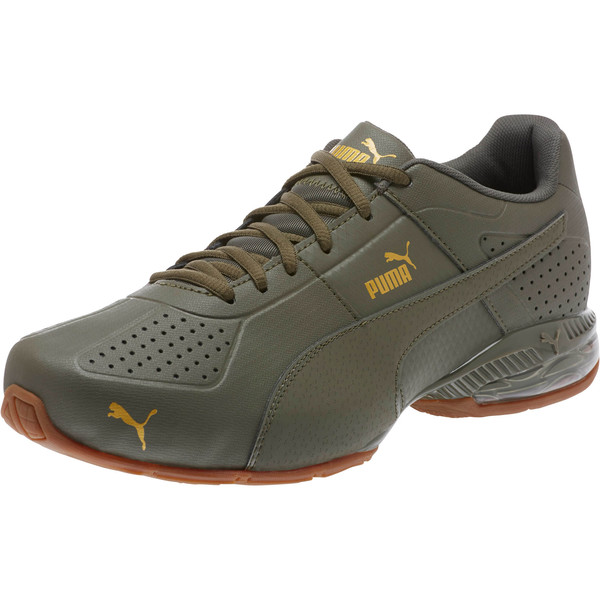 Cell Surin 2 Premium Men's Running Shoes, Olive Night-Gold, large