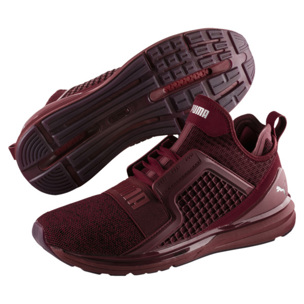 IGNITE Limitless Knit Men's Trainers, Tibetan Red-Puma Silver, large