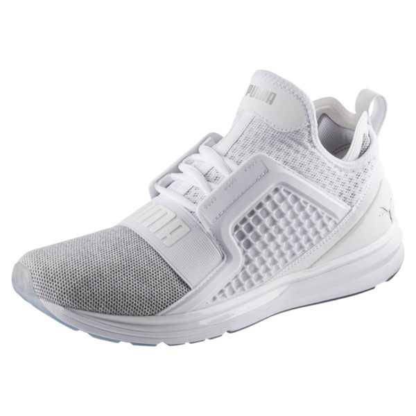 Basket IGNITE Limitless Knit pour homme, Puma White-Puma Silver, large