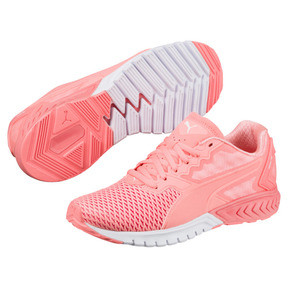 Thumbnail 2 of IGNITE Dual Mesh Women's Running Shoes, Nrgy Peach-Puma White, medium