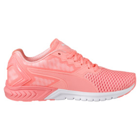 Thumbnail 3 of IGNITE Dual Mesh Women's Running Shoes, Nrgy Peach-Puma White, medium