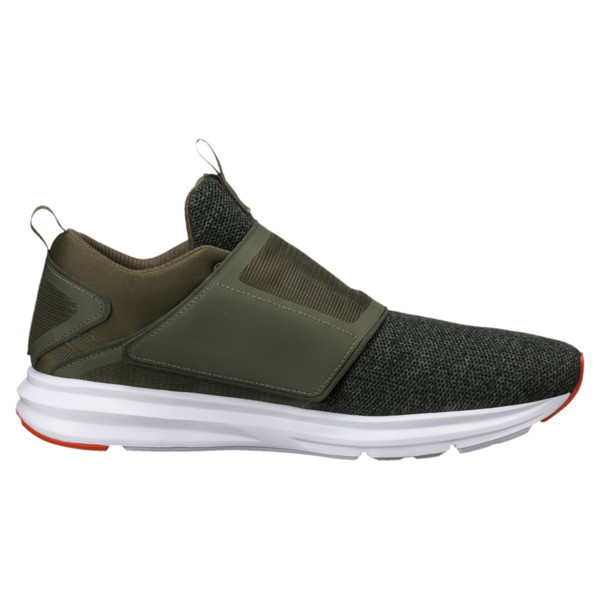 6de7902f9e Enzo Strap Knit Men's Running Shoes, Olive Night-Cherry Tomato, large