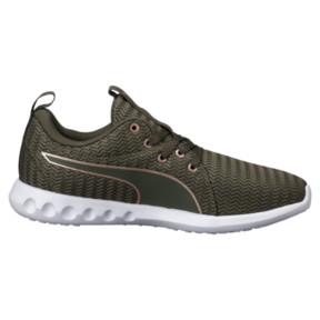 Thumbnail 3 of Carson 2 Metallic Women's Running Shoes, Olive Night-Rose Gold, medium