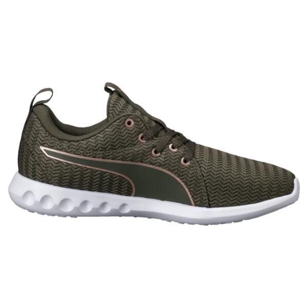 Carson 2 Metallic Women's Running Shoes, Olive Night-Rose Gold, large