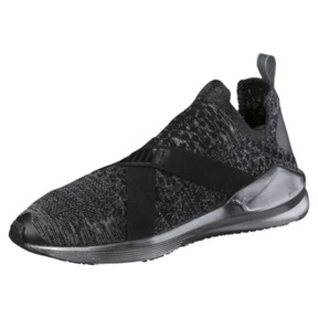 Thumbnail 1 of Fierce evoKNIT Metallic Women's Training Shoes, Puma Black-Puma Silver, medium