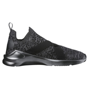 Thumbnail 3 of Fierce evoKNIT Metallic Women's Training Shoes, Puma Black-Puma Silver, medium