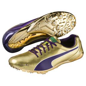 Thumbnail 2 of Bolt evoSPEED Electric Legacy Spike Shoes, Violet Indigo-Jelly Bean, medium
