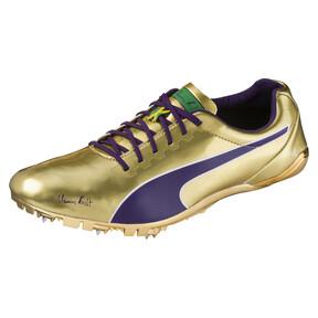 Thumbnail 1 of Bolt evoSPEED Electric Legacy Spike Shoes, Violet Indigo-Jelly Bean, medium