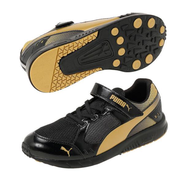 キッズ プーマスピードモンスター V3 (17-25cm), Puma Black-Puma Team Gold, large-JPN
