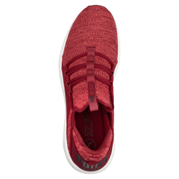 Mega NRGY Knit Men's Running Shoes, Red Dahlia-Flame Scarlet-Blk, large