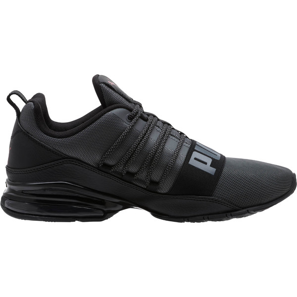 Cell Regulate KRM Men's Running Shoes, IronGate-PumaBlack-Pomegrnt, large