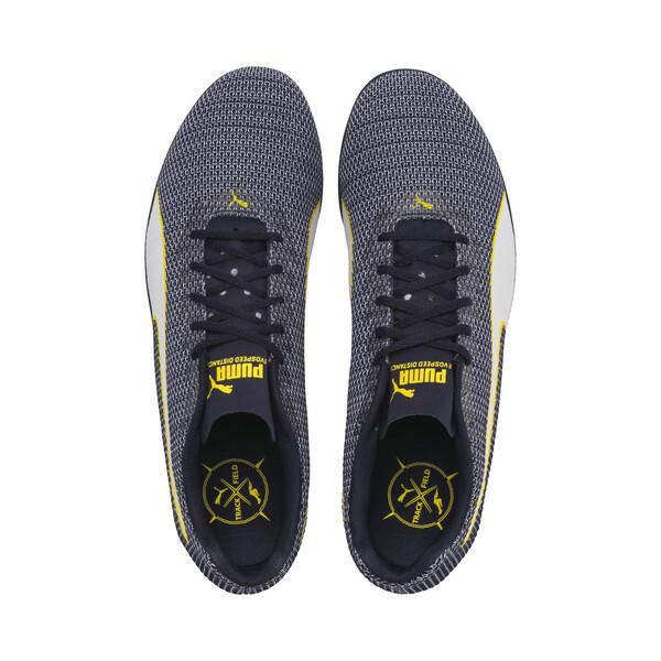 evoSPEED Distance 8 Men's Running Shoes, Peacoat-Blazing Yellow, large