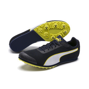 Thumbnail 2 of evoSPEED Star 6 Men's Track Spikes, Peacoat-Puma Black-Yellow, medium