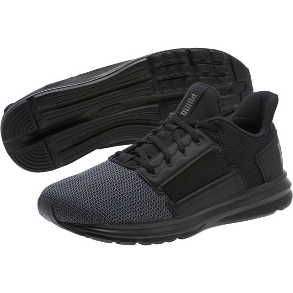 Enzo Street Men's Running Shoes, Black-Iron Gate-Aged Silver, large